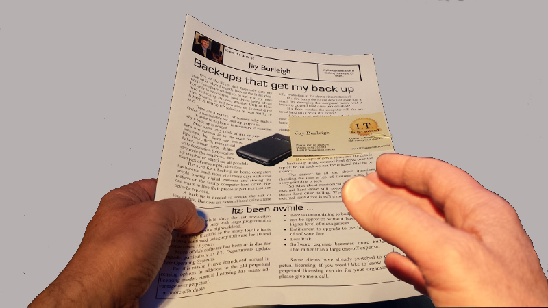 Paper-based newsletters can be used like a glorified business card.
