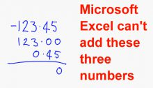 Microsoft Excel Addition Bug Error