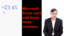 Microsoft Excel Addition Bug Workaround