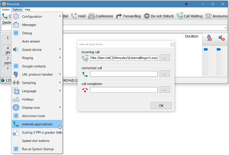 Configuring PhonerLite to have caller ID from Outlook Contacts